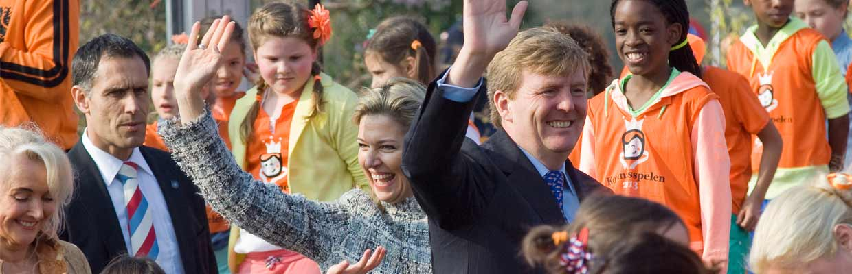 Willem Alexander en Maxima tijdens Koningsdag